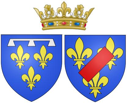 Escudo de armas de Luisa María Adelaida, como Duquesa de Orleáns.