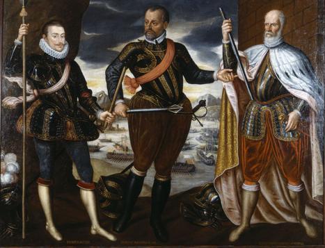 Los vencedores de Lepanto: desde la izquierda, don Juan de Austria, Marco Antonio Colonna y Sebastiano Venier.